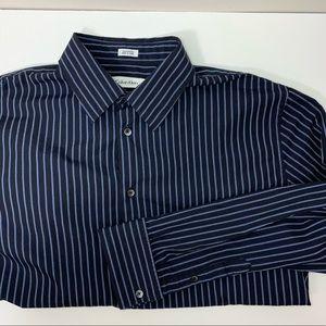Calvin Klein Men's Dress Shirt, French Cuff, Large